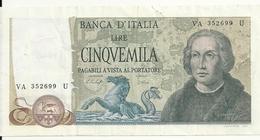 ITALIE 5000 LIRE 1977 VF+ P 102 C - [ 2] 1946-… : Républic