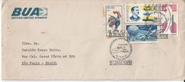 BRAZIL - 1968 - COMMEMORATIVE STAMP - FIRST FLIGHT - BRITISH UNITED AIRWAYS ......... WNV - Aerei