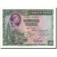 Billet, Espagne, 500 Pesetas, 1928, 1928-08-15, KM:77a, SPL - [ 1] …-1931 : First Banknotes (Banco De España)