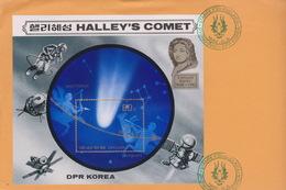 Korea 1986 Stampex 86 Halley's Comet Souvenir Sheet,FDC - Korea, North