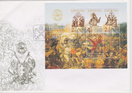 Lithuania 2009 1000 Years Souvenir Sheet FDC - Lithuania