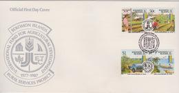Solomon Islands 1987 10th Anniversary Of IFAD,FDC - Solomoneilanden (1978-...)