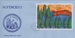 St Vincent Grenadines 1998 Israel 98 World Stamp Exhibition,souvenir Sheet,FDC - St.Vincent & Grenadines