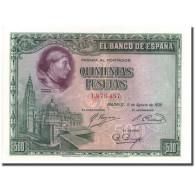 Billet, Espagne, 500 Pesetas, L.1928, 1928-08-15, KM:77a, SPL - [ 1] …-1931 : First Banknotes (Banco De España)