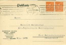 Deutsches Reich 2x189 Auf Karte - Deutschland