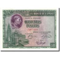 Espagne, 500 Pesetas, 1928, 1928-08-15, KM:77a, SPL+ - 500 Pesetas