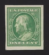 US #383 1910 Green WMK 190 Imperf Mint OG LH F-VF - Nuovi