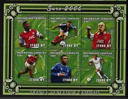 MOZAMBIQUE   Feuillet  N° 1542/47  * *  ( Cote 22.50e )  Euro 2000  Football  Soccer   Fussball - Championnat D'Europe (UEFA)