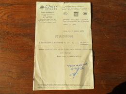 ANCIENNE FACTURE /  L' INTER VOYAGES  / SPA  / FOURNITURE BILLET AVION  BXL BUJUMBURA / 1970 - Sports & Tourisme