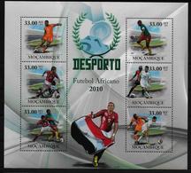 MOZAMBIQUE  Feuillet  ( 2010 )  * * Football Soccer Fussball - Neufs