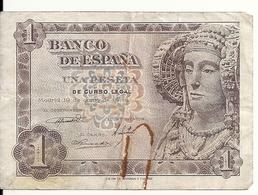ESPAGNE 1 PESETA 1948 VF P 135 - [ 3] 1936-1975 : Regency Of Franco