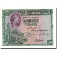 Billet, Espagne, 500 Pesetas, 1928, 1928-08-15, KM:77a, SUP+ - [ 1] …-1931 : First Banknotes (Banco De España)