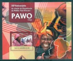 Mozambique 2012 Famous People, PAWO MS MUH MOZ12330b - Mozambique