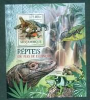 Mozambique 2012 Reptiles, Crocodile, Turtle, Comodo Dragon, Iguana MS MUH MOZ12217b - Mozambique