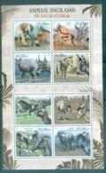 Mozambique 2012 Wildlife, Endangered, Extinct, Donkey, Gazelle MS MUH MOZ12219a - Mozambique