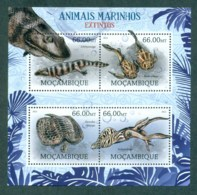 Mozambique 2012 Wildlife, Endangered, Extinct, Marine, Reptile, Turtle, Squid, Shark MS MUH MOZ12222a - Mozambique
