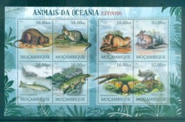 Mozambique 2012 Wildlife, Endangered, Oceania, Kangaroo, Fish, Bat, Rodent MS MUH MOZ12228a - Mozambique