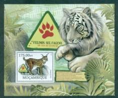 Mozambique 2012 Wildlife, Endangered, Tiger, Lynx Cat MS MUH MOZ12226b - Mozambique