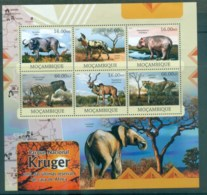 Mozambique 2013 African Wildlife, Buffalo, Hyena, Hippo, Zebra, Leopard, Kruger National Park MS MUH MOZ12322a - Mozambique