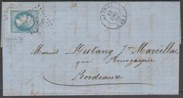 Lot Et Garonne:  G.C.1995 Sur N°22 (variété) + CàD LAYRAC(45) Sur LAC De 1866 - Marcophilie (Lettres)