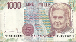 ITALIE 1000 LIRE 1990 VF P 114 C - [ 2] 1946-… : République