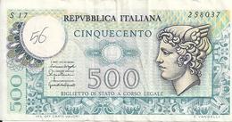 ITALIE 500 LIRE 1976 VF P 95 - [ 2] 1946-… : Républic