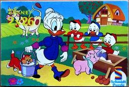 Ancienne Boîte SCHMIDT PUZZLE Walt Disney (2 X 26) : Grand-Mère Donald / Mickey (réf. 625 2385) - Puzzles