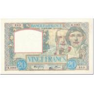 France, 20 Francs, 20 F 1939-1942 ''Science Et Travail'', 1940, 1940-09-26, SPL - 1871-1952 Antichi Franchi Circolanti Nel XX Secolo
