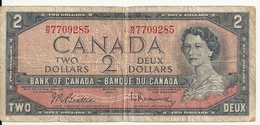 CANADA 2 DOLLARS 1954 VG+ P 76 - Canada