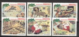 Dominica 720/25 ** Postfrisch Walt-Disney-Figuren - Dominica (1978-...)