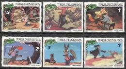 Turks- Und Caicos-Inseln 554/59 ** Postfrisch Walt-Disney-Figuren - Turks & Caicos