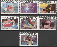Malediven 909/15 ** Postfrisch Walt-Disney-Figuren - Malediven (1965-...)