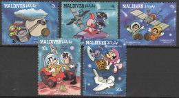 Malediven 1284/88 ** Postfrisch Walt-Disney-Figuren - Malediven (1965-...)
