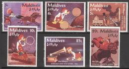 Malediven 2319/24 ** Postfrisch Walt-Disney-Figuren - Malediven (1965-...)