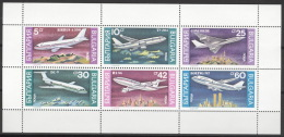 Bulgarien 3858/63 Kleinbogen ** Postfrisch Flugzeuge - Blocks & Kleinbögen