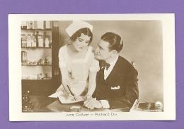 MOVIE STAR JUNE COLLYER & RICHARD DIX # 4796/1 VINTAGE PHOTO PC. PUBLISHER GERMANY 691 - Schauspieler