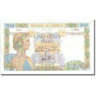 France, 500 Francs, 500 F 1940-1944 ''La Paix'', 1940, 1940-12-19, TB+ - 1871-1952 Anciens Francs Circulés Au XXème