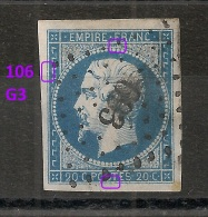 106 G3 N° 14. - 1853-1860 Napoleon III