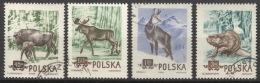 Polen 885/88A O Tiere - 1944-.... Republik