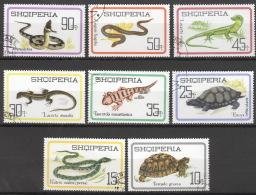 Albanien 1083/90 O Reptilien - Albanien