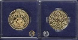England Doppel-Leopard 1344 Neuprägung Silber 999/vergoldet 25mm PP - Grande-Bretagne