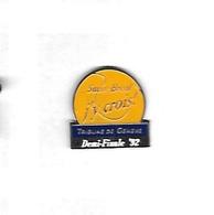 Pin's  SUISSE, Sport  Ténnis  Demi  Finale  92  SUISSE - BRESIL  J' Y  Crois  Avec  Le  Journal  Tribune  De  Genève - Tennis