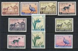 Afghanistan 1961 Pictorial, Camel, Dog, Bird MUH - Afghanistan