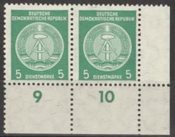 DDR Dienst 2x34 Eckrandpaar ** Postfrisch - DDR