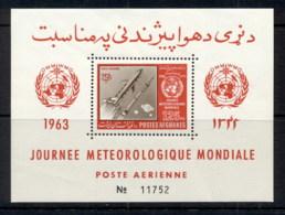 Afghanistan 1963 Space Rocket, World Meterological Day MS MUH - Afghanistan