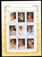Afghanistan 1997 Princess Diana In Memoriam MS MUH - Afghanistan