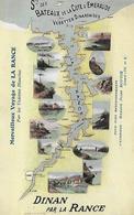 22) DINAN  Ste Des Bateaux De La Côte D' Émeraude Vedettes Dinardaises Merveilleux Voyage Sur La Rance Vedettes Blanches - Dinan