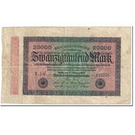 Billet, Allemagne, 20,000 Mark, 1923, 1923-02-20, KM:85b, B - 20000 Mark