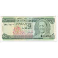 Billet, Barbados, 5 Dollars, 1975, Undated (1975), KM:32a, TTB+ - Barbados