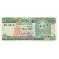 Billet, Barbados, 5 Dollars, 1975, Undated (1975), KM:32a, TTB+ - Barbades